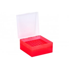 Cryo Boxes, PP, red, grid 9 x 9, 133 x 133 x 75 mm