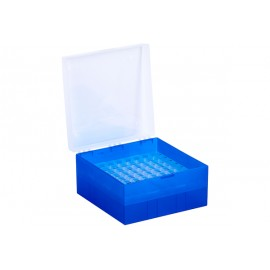 Cryo Boxes, PP, blue, grid 9 x 9, 133 x 133 x 52 mm