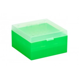 Cryo Boxes, PP, green, grid 9 x 9, 133 x 133 x 52 mm