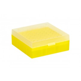 Cryo Boxes, PP, yellow, grid 9 x 9, 133 x 133 x 52 mm