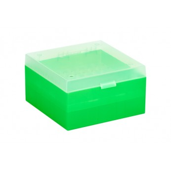 Cryo Boxes, PP, green, grid 9 x 9, 133 x 133 x 75 mm